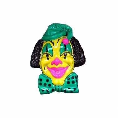 Carnaval clown versiering geel