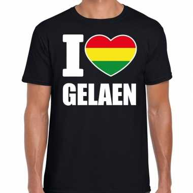 Carnaval i love gelaen t-shirt zwart voor heren