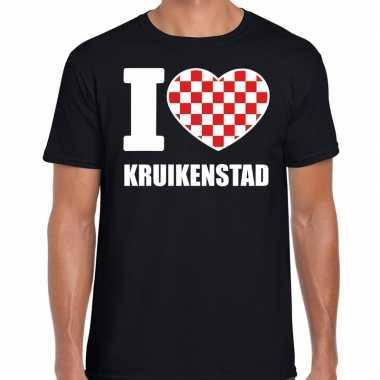 Carnaval i love kruikenstad t-shirt zwart voor heren