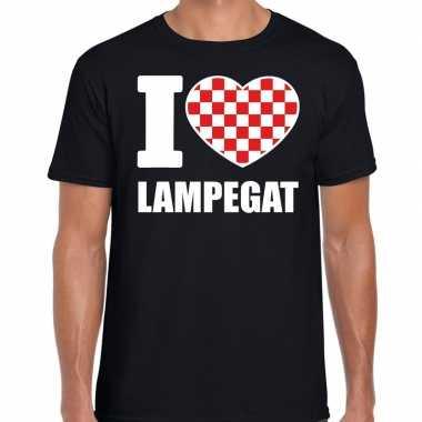 Carnaval i love lampegat t-shirt zwart voor heren