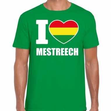 Carnaval i love mestreech t-shirt groen voor heren
