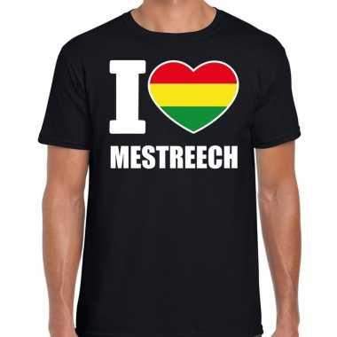 Carnaval i love mestreech t-shirt zwart voor heren