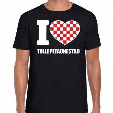 Carnaval i love tullepetaonestad t-shirt zwart voor heren