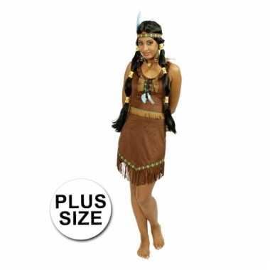 Carnaval kostuum indiaan jurk voor dames grote maat