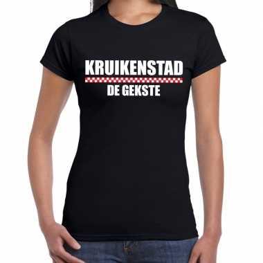 Carnaval kruikenstad de gekste t-shirt zwart voor dames