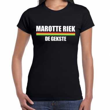 Carnaval marotte riek de gekste t-shirt zwart voor dames