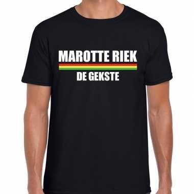 Carnaval marotte riek de gekste t-shirt zwart voor heren