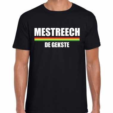 Carnaval mestreech de gekste t-shirt zwart voor heren