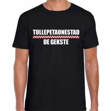 Carnaval tullepetaonestad de gekste t-shirt zwart voor heren