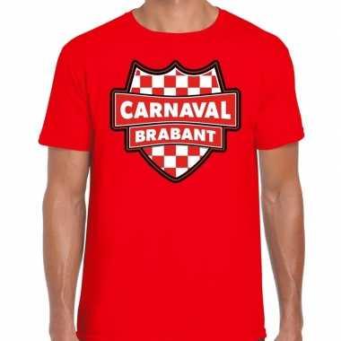 Carnaval verkleed t-shirt brabant rood voor heren