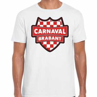Carnaval verkleed t-shirt brabant wit voor heren