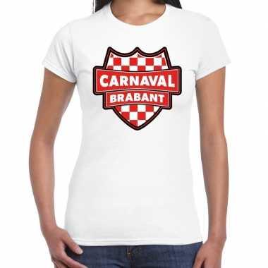Carnaval verkleed t-shirt brabant wit voor voor dames