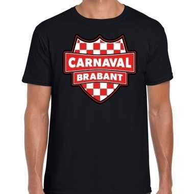 Carnaval verkleed t-shirt brabant zwart voor heren