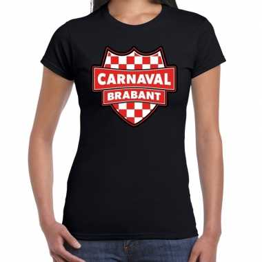 Carnaval verkleed t-shirt brabant zwart voor voor dames