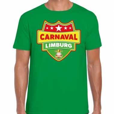 Carnaval verkleed t-shirt limburg groen voor heren