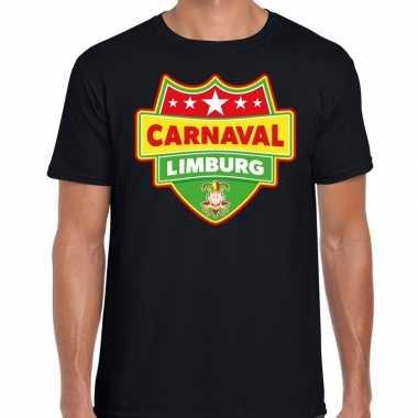 Carnaval verkleed t-shirt limburg zwart voor heren