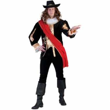 Carnavals musketierspak voor mannen
