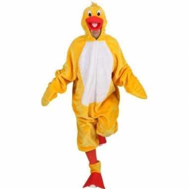 Carnavalskostuum gele vogels outfit