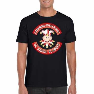 Carnavalsvereniging de harde plasser brabant heren t-shirt zwart