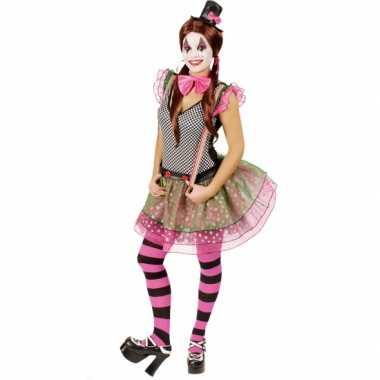 Clown carnavalskostuum voor dames