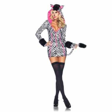 Dames zebra carnavalskleding