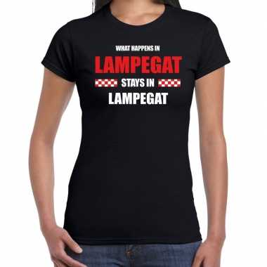 Eindhoven/lampegat carnaval outfit / t- shirt zwart dames