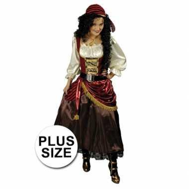 Grote maat carnavalskleding piratenjurk