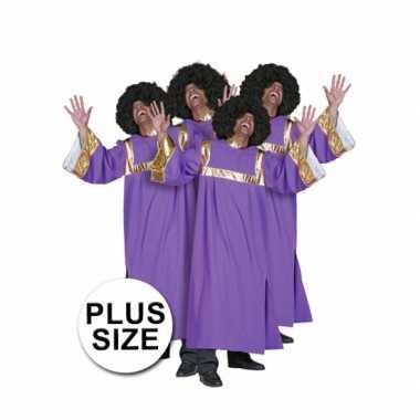 Grote maat gospel carnavalskleding