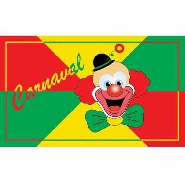 Grote vlag met clown 90 x 150 cm