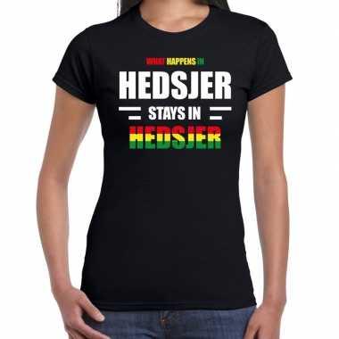 Heerlen/hedsjer carnaval outfit / t- shirt zwart dames