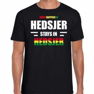 Heerlen/hedsjer carnaval outfit / t- shirt zwart heren