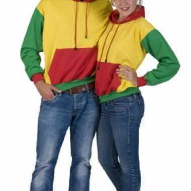 Party sweater rood geel en groen