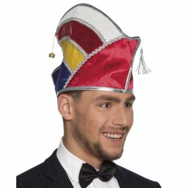 Prins carnaval muts multikleur voor heren