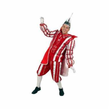Prins carnaval outfit rood/wit