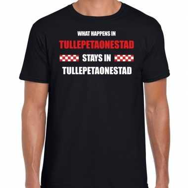 Roosendaal/tullepetaonestad carnaval t- shirt zwart heren