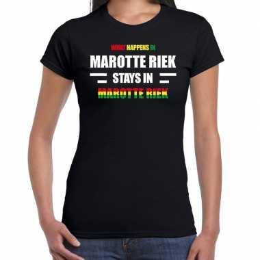 Sittard/marotte riek carnaval outfit / t- shirt zwart dames