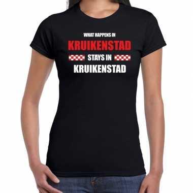 Tilburg/kruikenstad carnaval outfit / t- shirt zwart dames