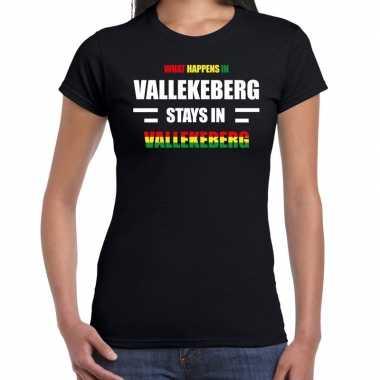 Valkenburg/vallekeberg carnaval outfit / t- shirt zwart dames