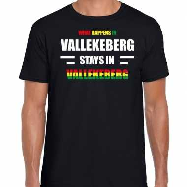 Valkenburg/vallekeberg carnaval outfit / t- shirt zwart heren
